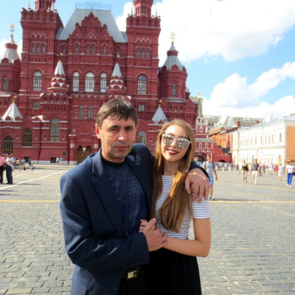 Vater-Tochter Wiedersehen in Moskau
