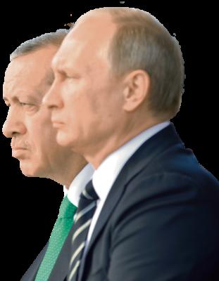 Optische Täuschung: Erdogan (l.) ist einen Kopf größer als Putin / RIA Novosti, MDZ