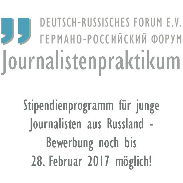 Journalistenpraktikum