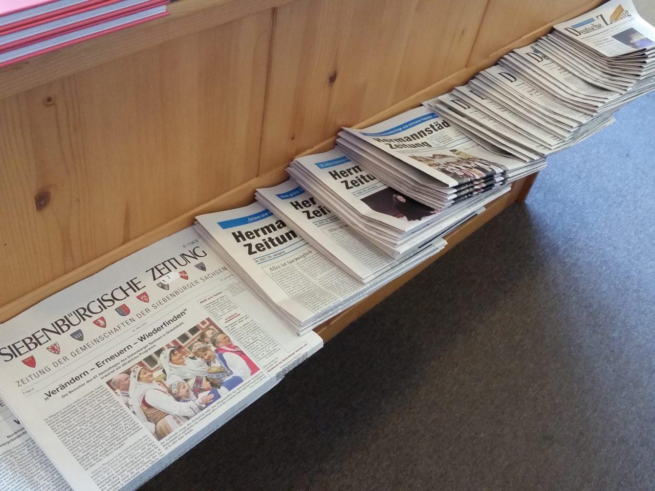 In Rumänien gibt es mehrere deutschsprachige Zeitungen / Peggy Lohse