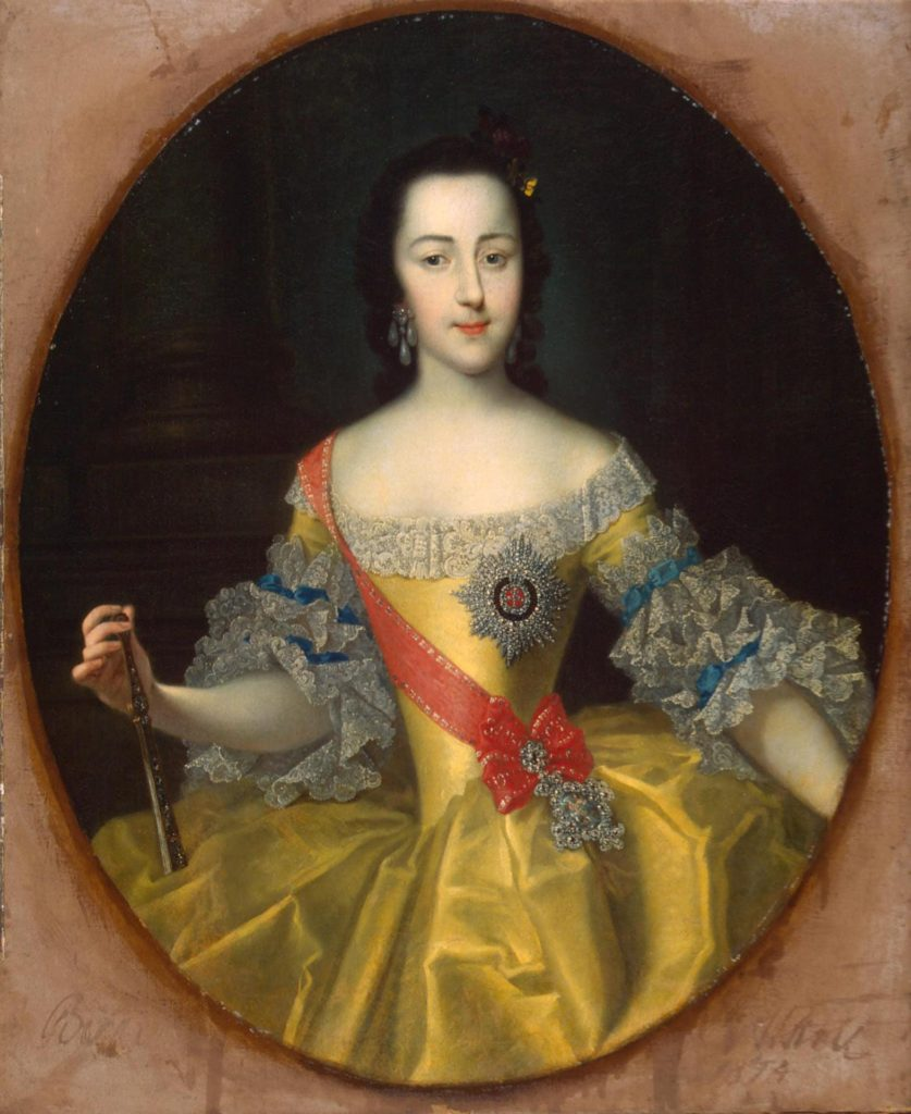 Großfürstin Jekaterina, die künftige Zarin Katharina II. / Georg Christoph Grooth/wikipedia