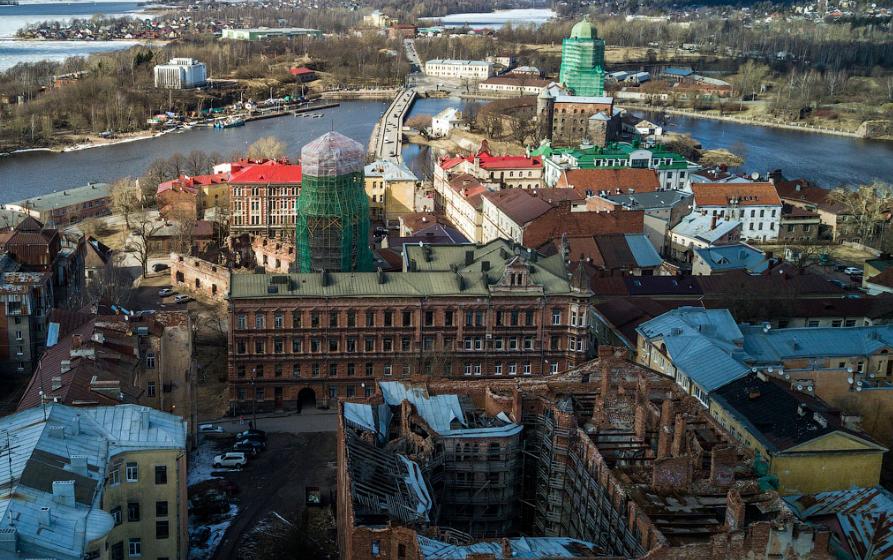 Wyborg von oben - und vom Zerfall bedroht /varlamov.ru