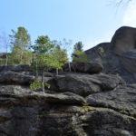 Steile Felswände der Stolby / Peggy Lohse