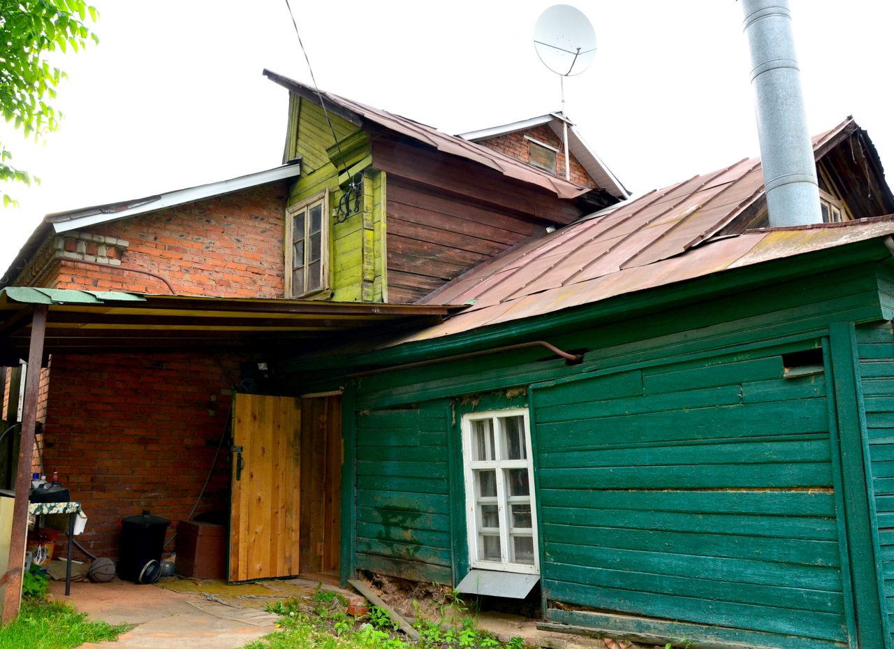 Bezaubernd Russisches Holzhaus Foto Von Das Fast 90 Jahre Alte Der Sokolowskijs