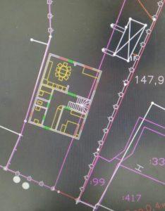 Bauplan für das neue Holzheim / privat