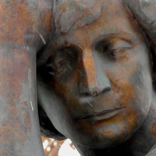 Marina-Zwetajewa-Denkmal im Moskauer Borisoglebskij Pereulok / Peggy Lohse
