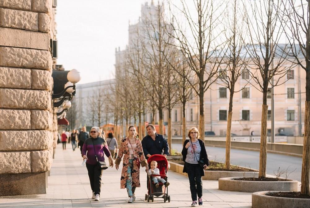 Moskauer Gartenring: mehr Platz zum Flanieren und mehr Bäume / Mark Seryj/KB Stelka