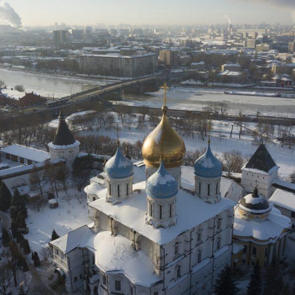 Schnee in Moskau