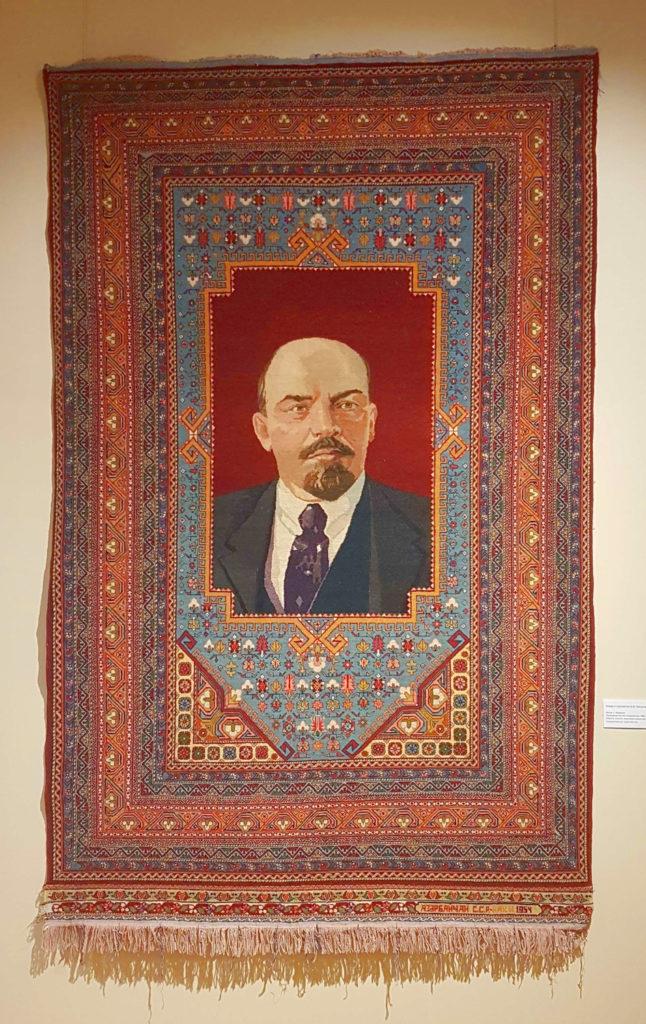 """Aserbaidschanische Teppichkunst der Sowjetzeit: Wandteppich """"Lenin"""""""