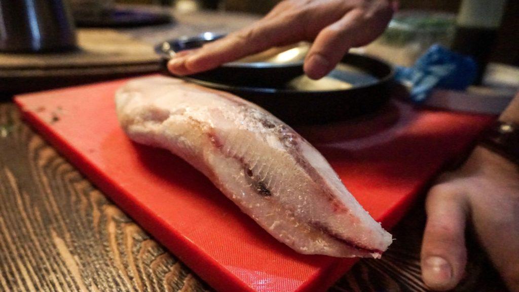 Roher Fisch, das Ausgangsproddukt von Stroganina