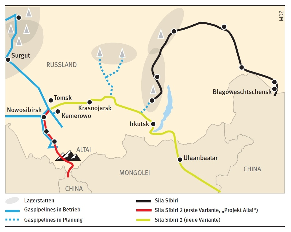 Pipeline Mongolei
