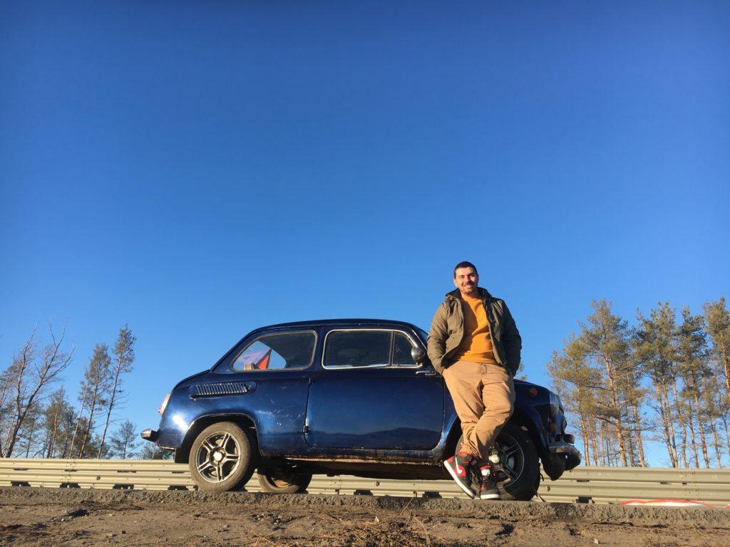 Wladimir Scheltow und sein Saporoschez SAS-965 von 1964
