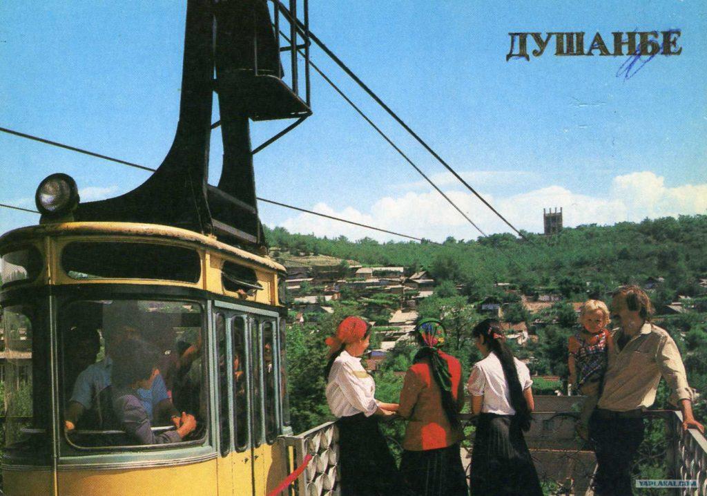 Verkehr in Tadschikistan: die Seilbahn in Duschanbe